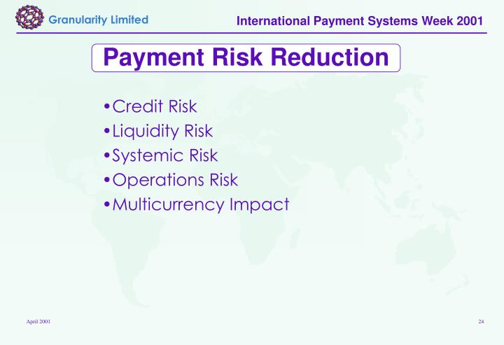 Payment Risk Reduction