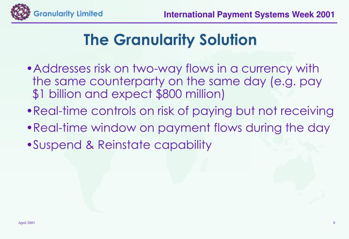 The Granularity Solution