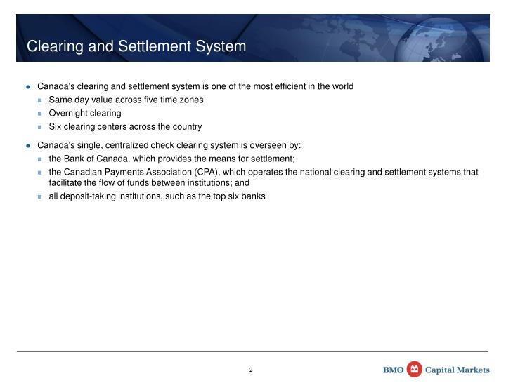 Clearing and Settlement System