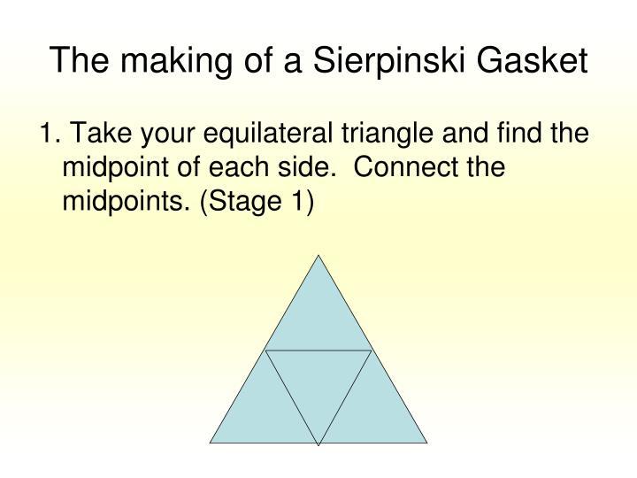 The making of a Sierpinski Gasket