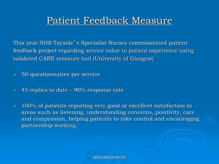 Patient Feedback Measure
