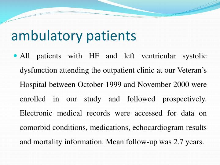ambulatory patients