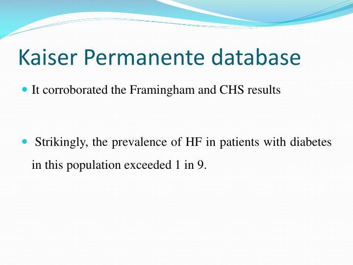Kaiser Permanente database