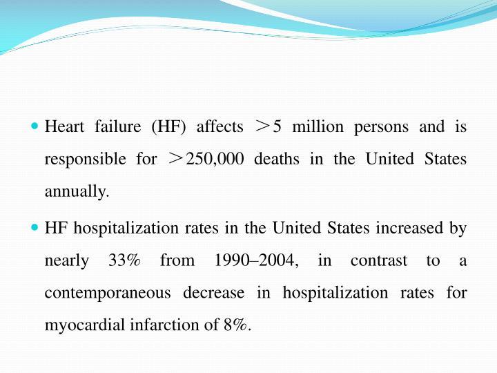 Heart failure (HF) affects