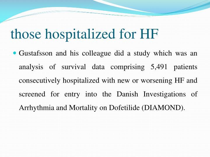those hospitalized for HF