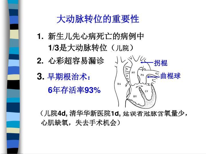 大动脉转位的重要性