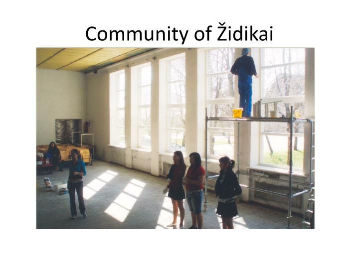 Community of Židikai