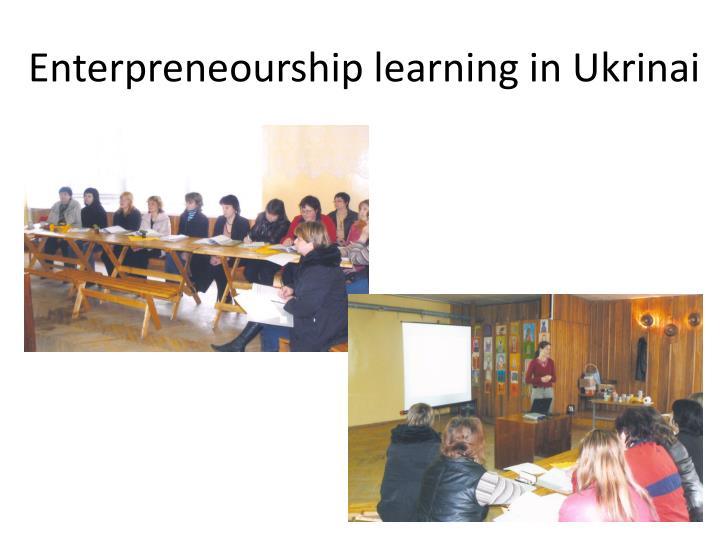 Enterpreneourship learning