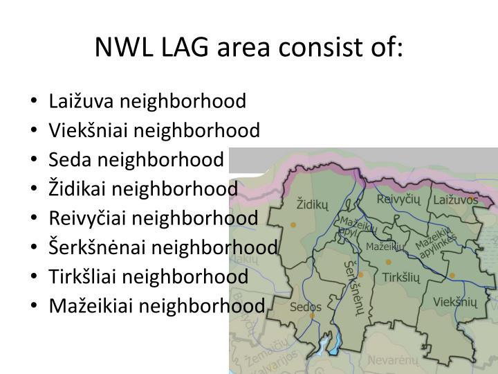 Nwl lag area consist of