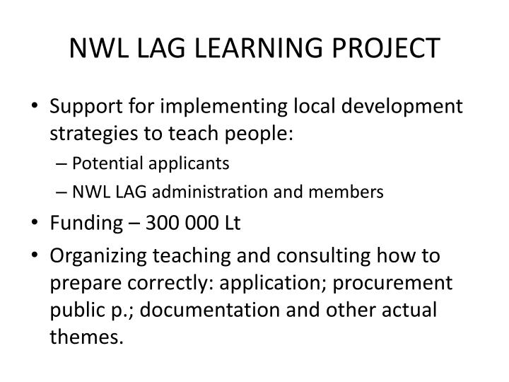 NWL LAG LEARNING PROJECT