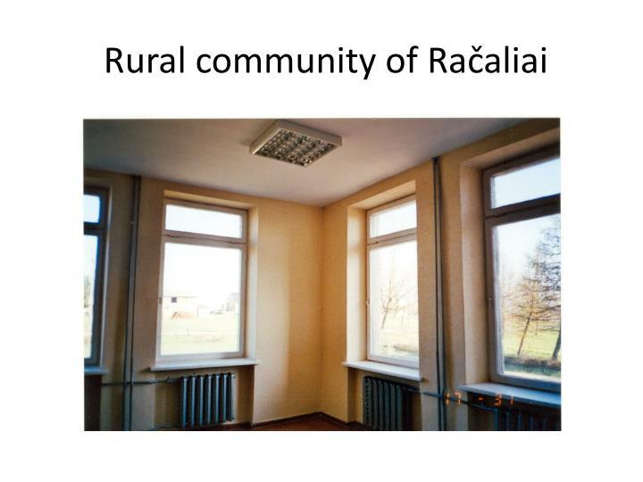 Rural community of