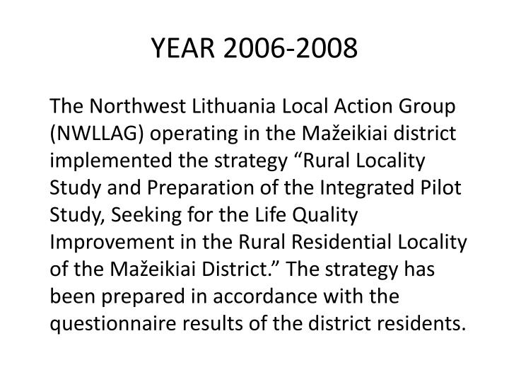 YEAR 2006-2008