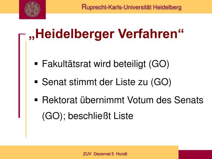 """""""Heidelberger Verfahren"""""""