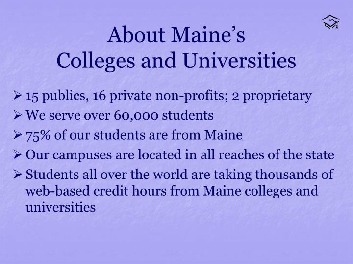 About maine s colleges and universities