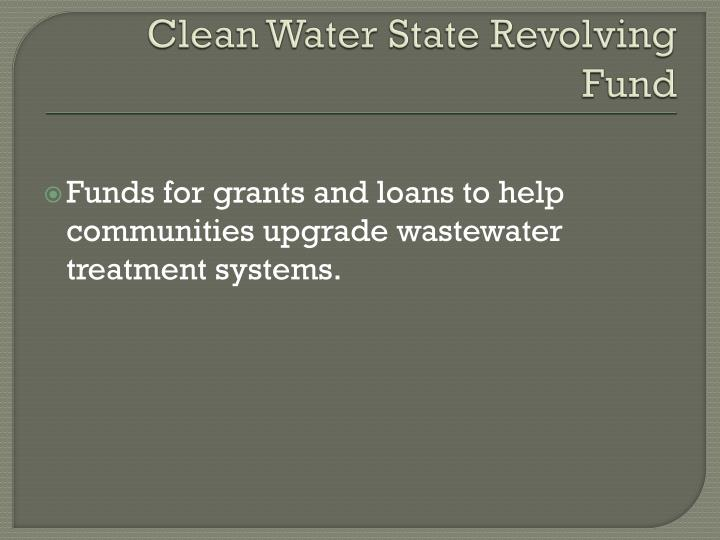 Clean Water State Revolving Fund