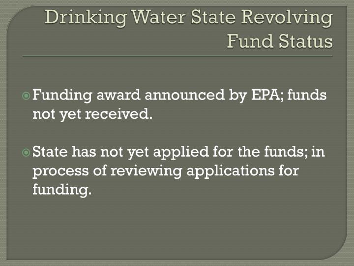Drinking Water State Revolving