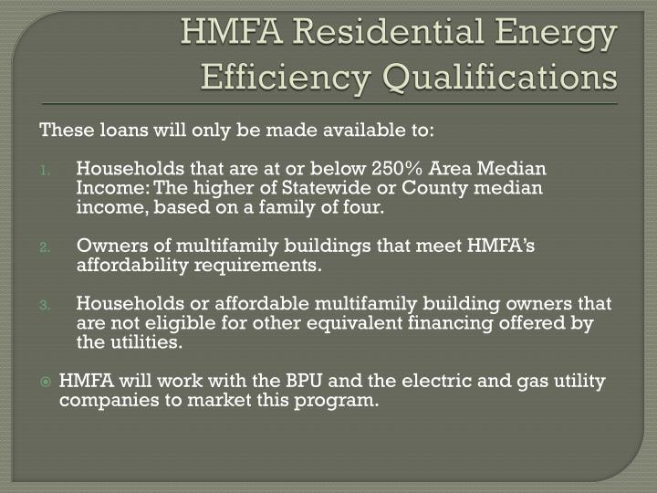 HMFA Residential Energy
