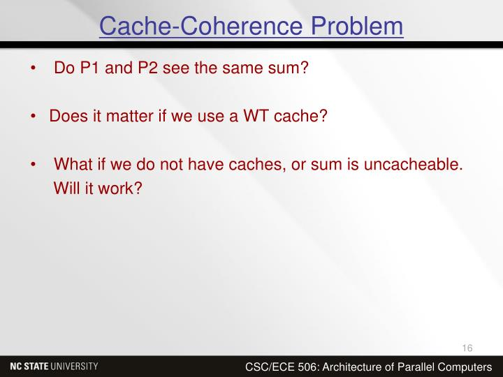 Cache-Coherence Problem