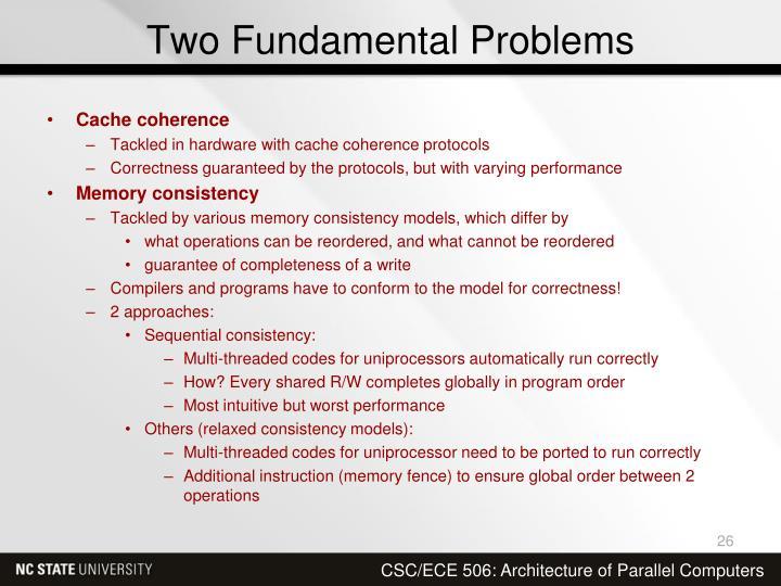 Two Fundamental Problems