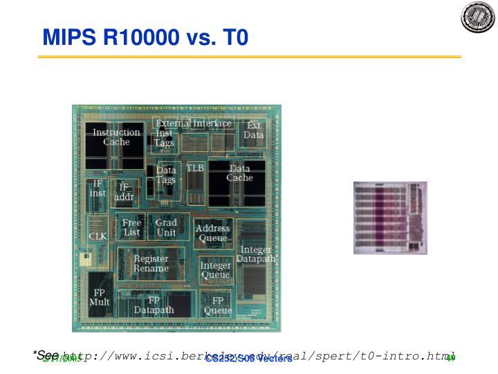 MIPS R10000 vs. T0
