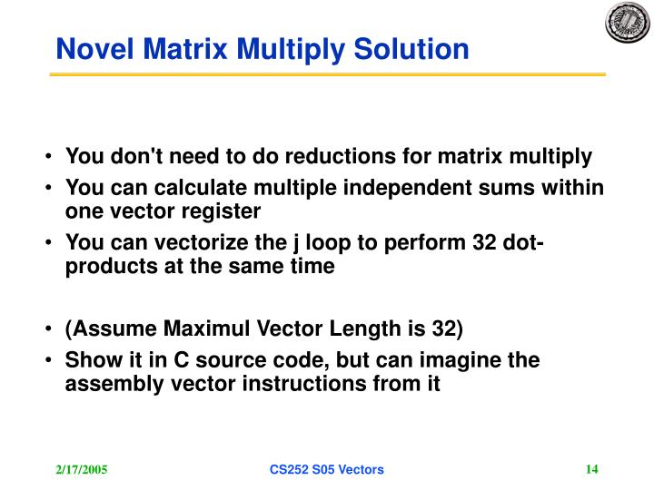 Novel Matrix Multiply Solution