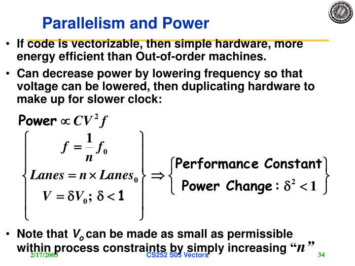 Parallelism and Power