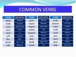 common verbs1