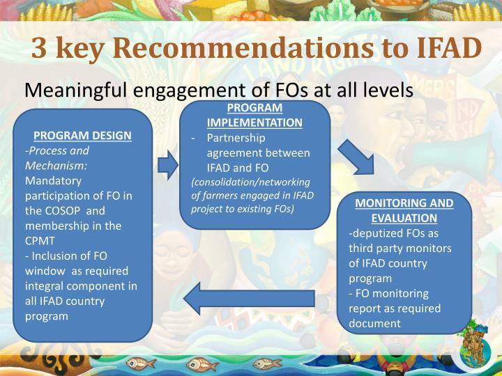 3 key Recommendations to IFAD