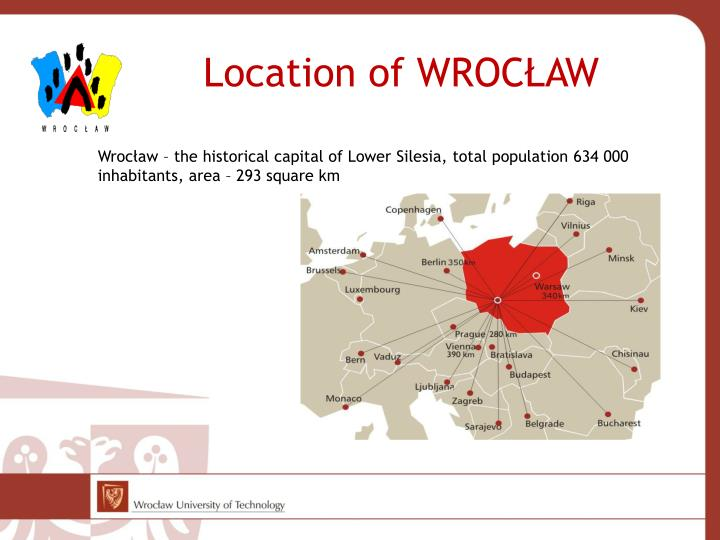 Location of wroc aw