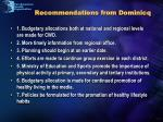 recommendations from dominicq
