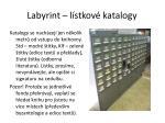 labyrint l stkov katalogy