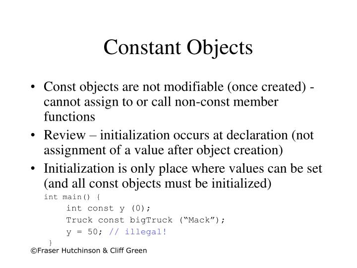 Constant objects