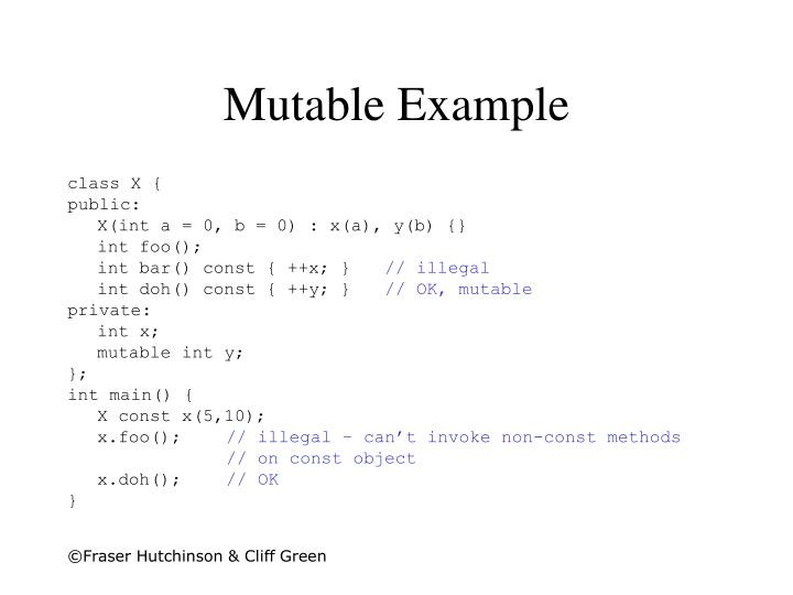 Mutable Example