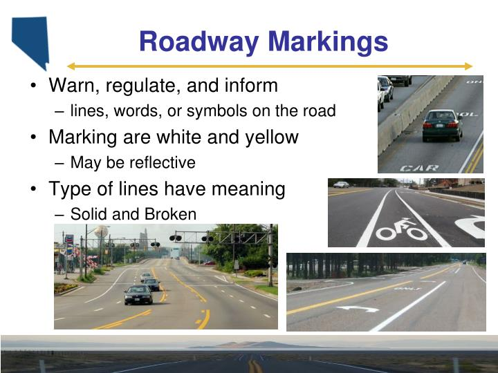 Roadway markings1