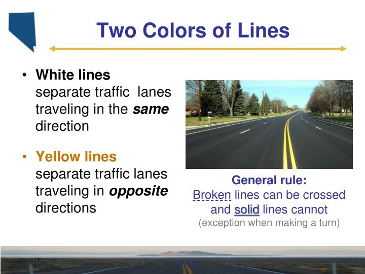 Two colors of lines