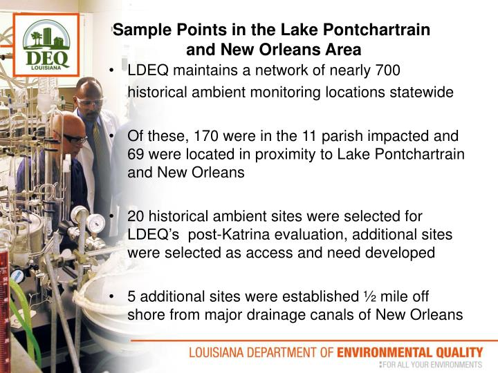 Sample Points in the Lake Pontchartrain