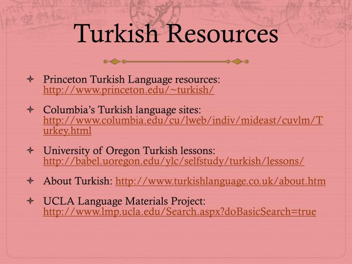 Turkish Resources