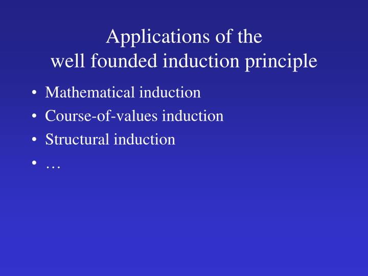 Applications of the