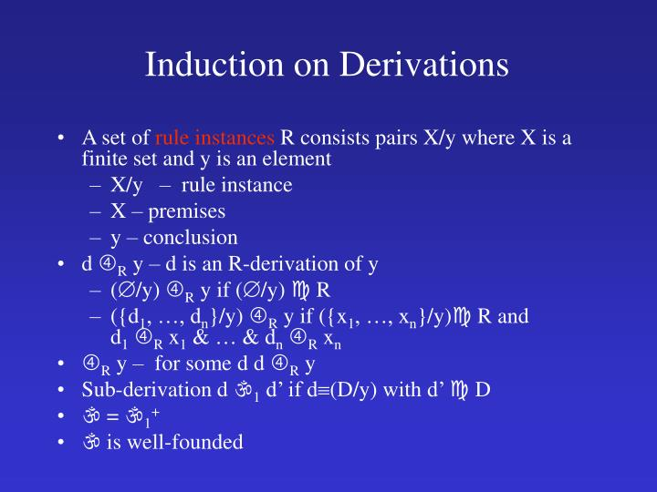 Induction on Derivations