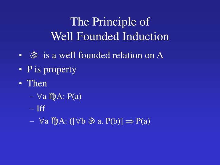 The Principle of