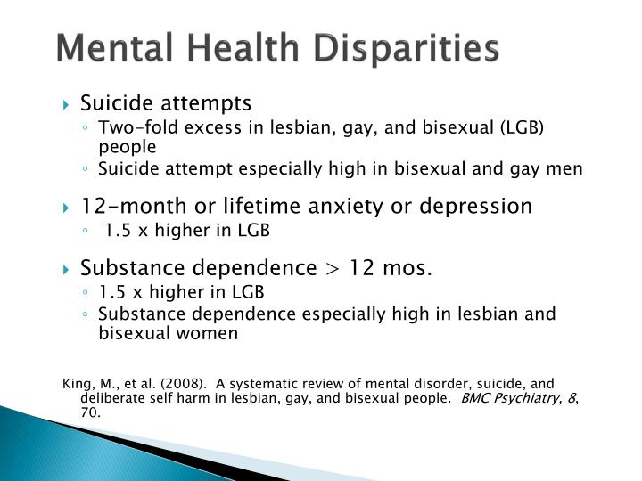 Mental Health Disparities