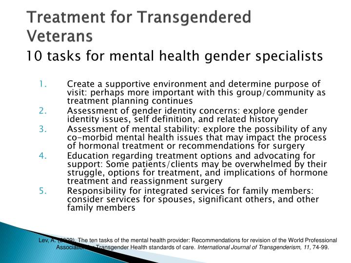 Treatment for Transgendered Veterans