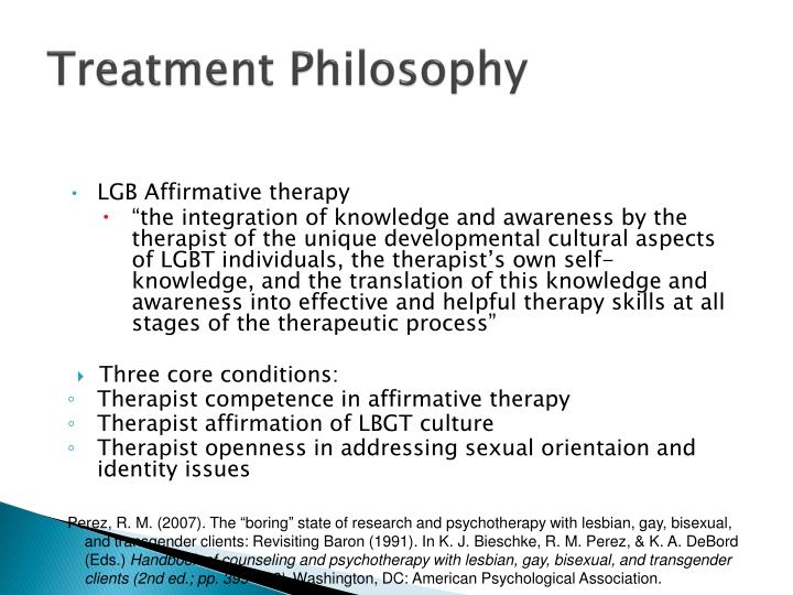 Treatment Philosophy