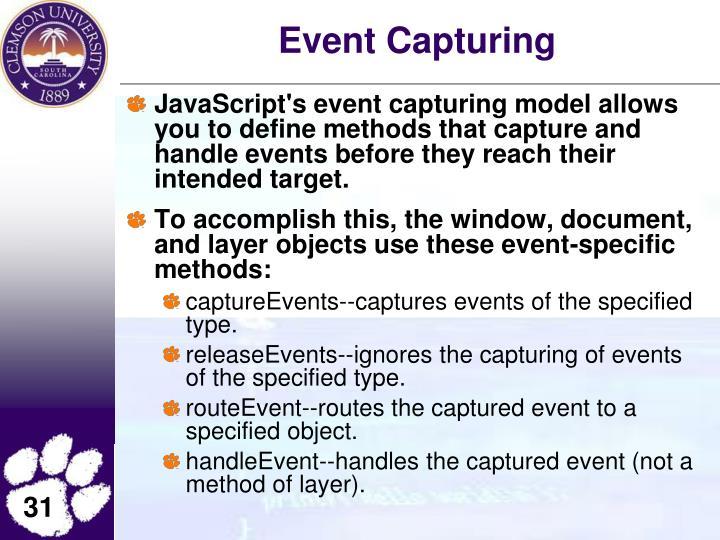 Event Capturing