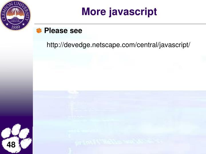 More javascript