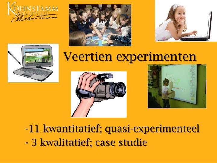 Veertien experimenten