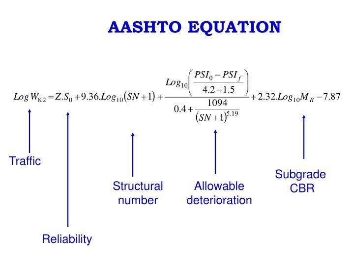AASHTO EQUATION