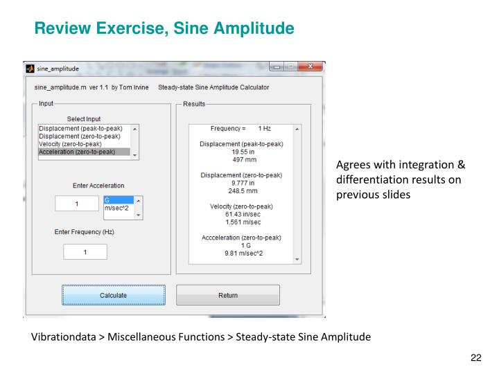 Review Exercise, Sine Amplitude