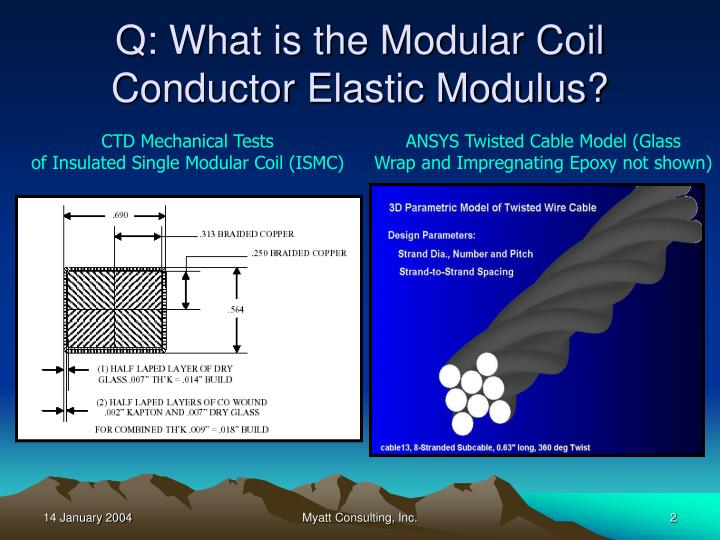 Q what is the modular coil conductor elastic modulus