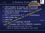e science evolves